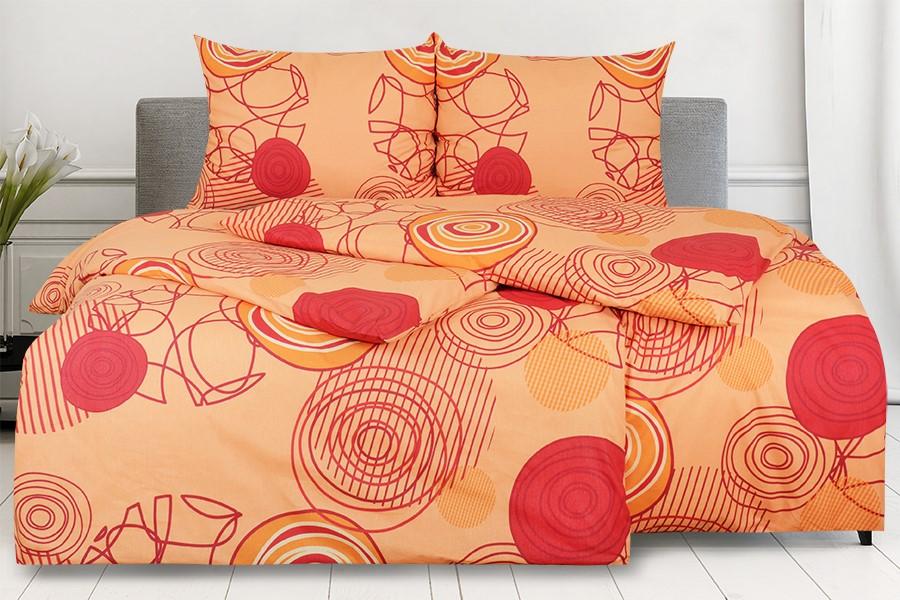 Bavlněné povlečení RENFORCÉ 4dílné KARERA oranžové