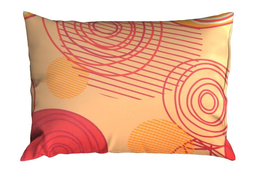 Bavlněný povlak na polštář RENFORCÉ 70x90 cm KARERA oranžový