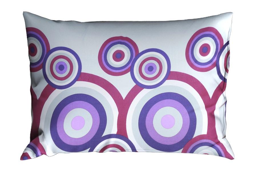 Bavlněný povlak na polštář RENFORCÉ 70x90 cm FIORA fialový