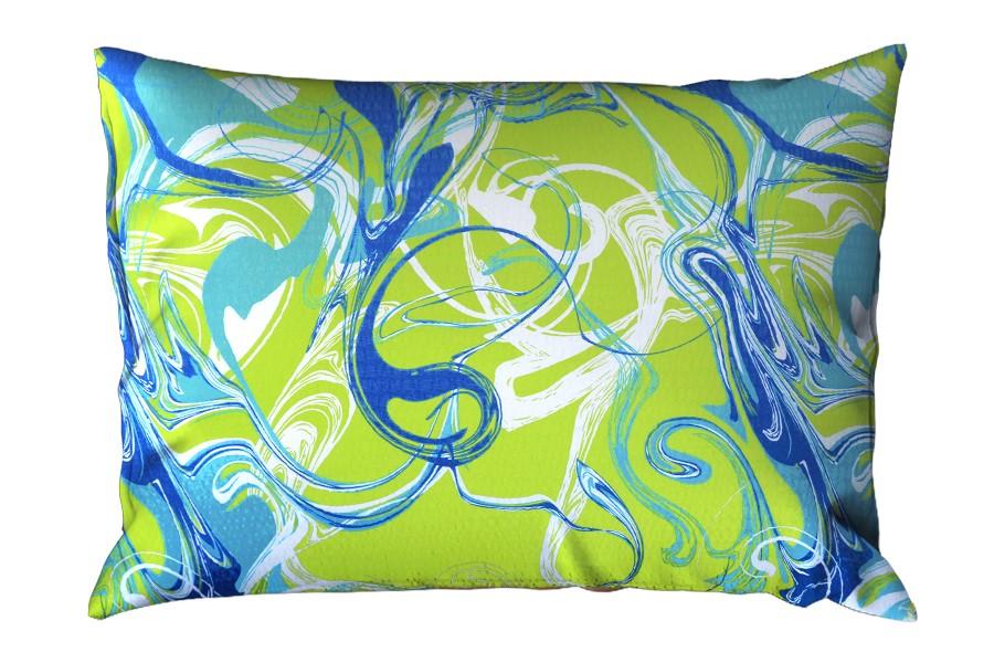 Krepový povlak na polštář RENFORCÉ 70x90 cm SPIRIT zelený