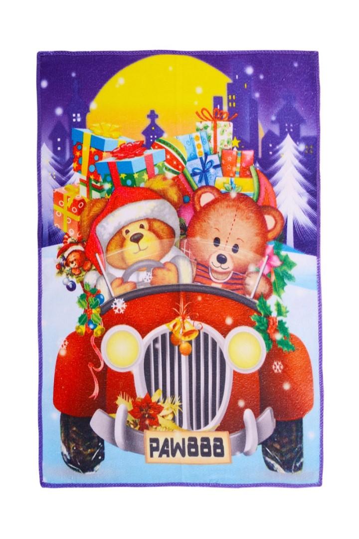 Vánoční ručník MEDVÍDCI V AUTĚ