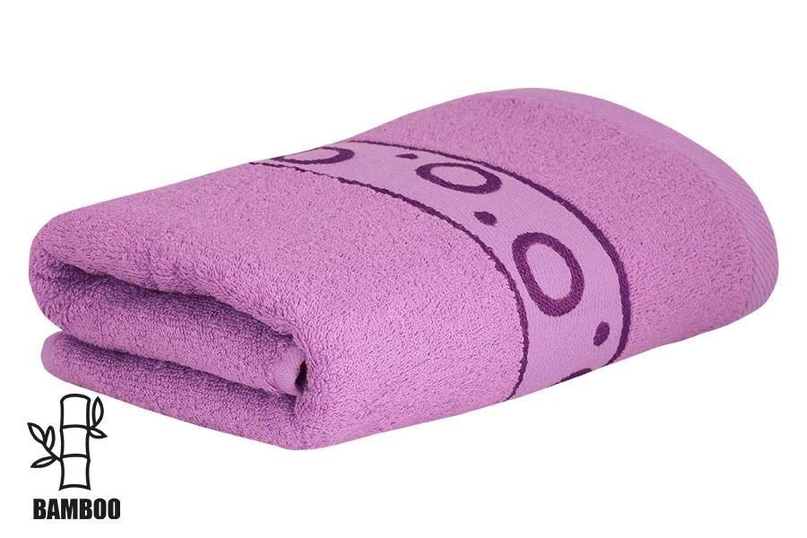 Bambusový ručník KORAL světle fialový
