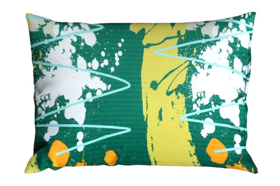 Krepový povlak na polštář RENFORCÉ 70x90 cm MIDELA zelený