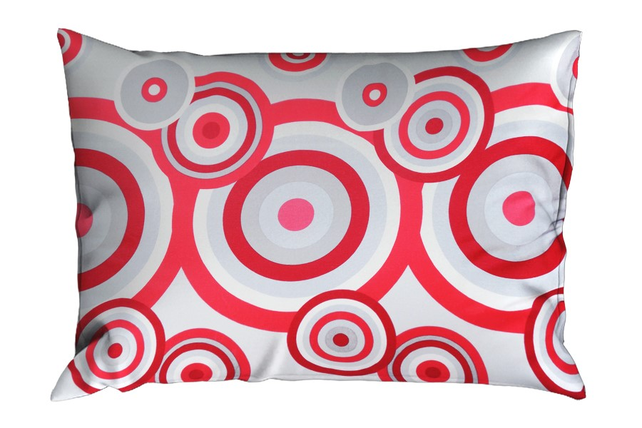 Bavlněný povlak na polštář RENFORCÉ 70x90 cm FIORA červený