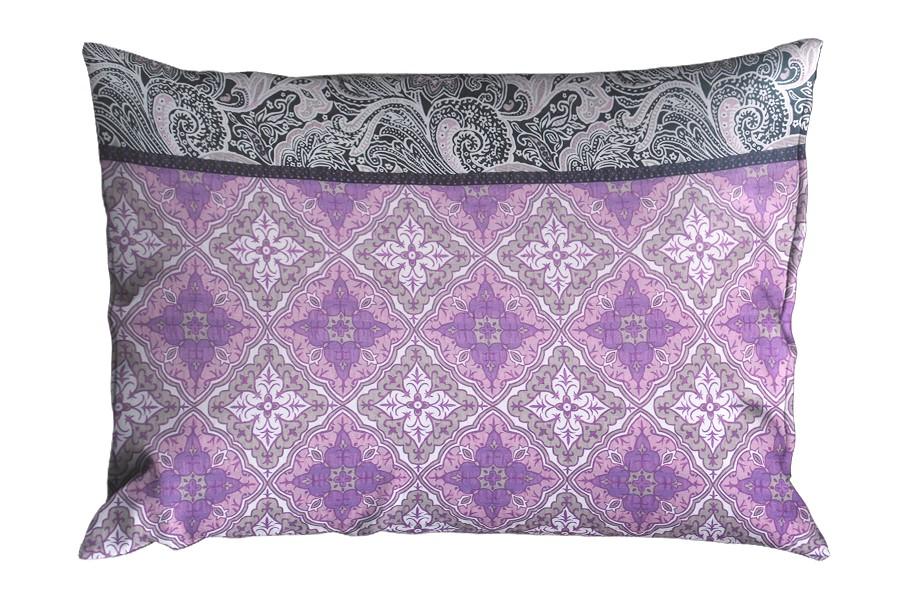 Krepový povlak na polštář 70x90 cm LIBELA fialový