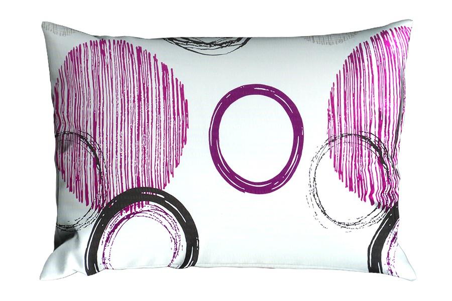 Krepový povlak na polštář RENFORCÉ 70x90 cm BARCELONA fialový