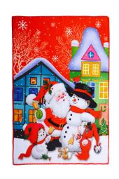 Vánoční ručník SANTA A SNĚHULÁK