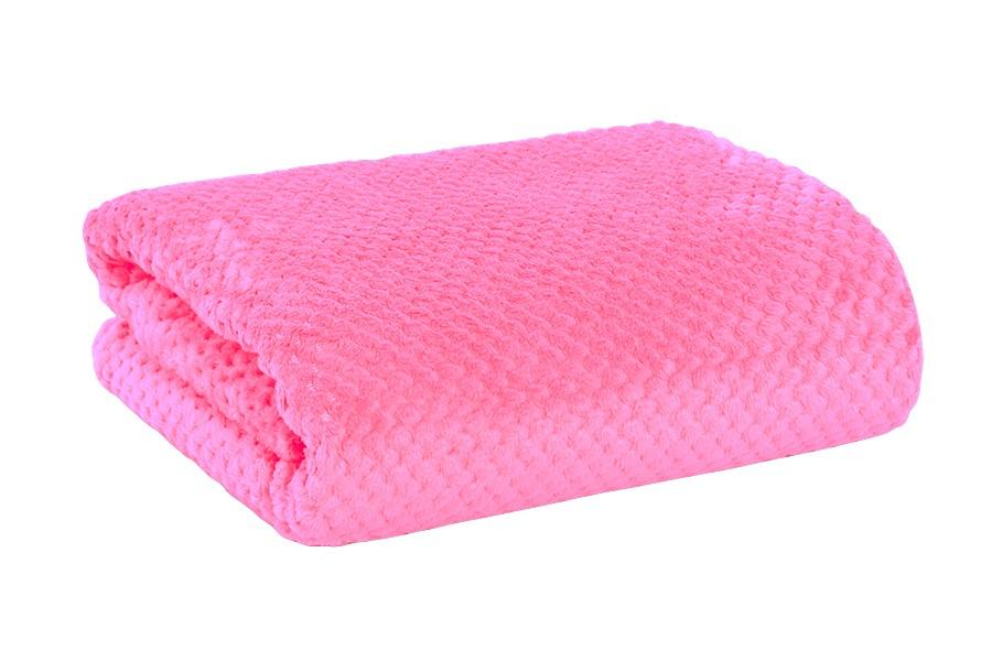 Žakárová deka RONA malinová