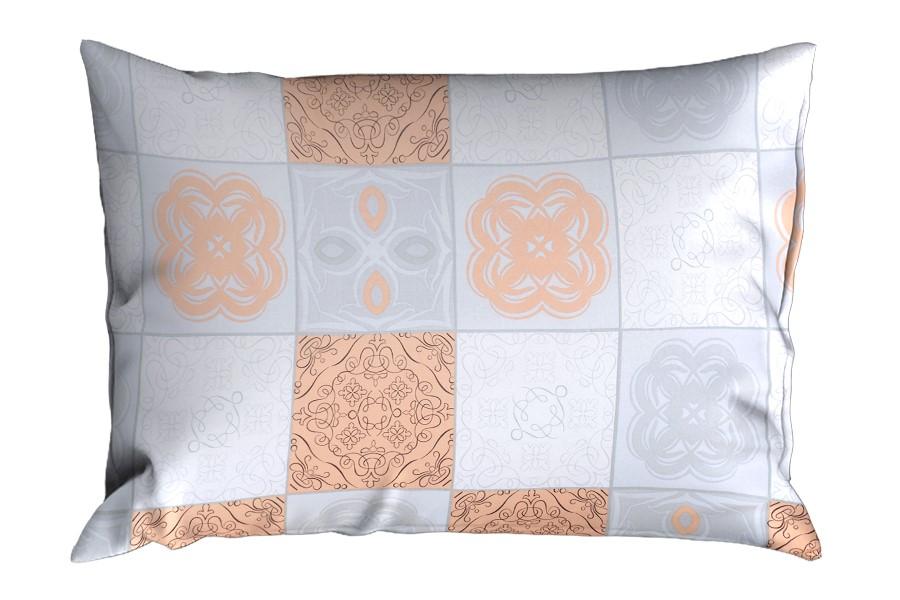 Bavlněný povlak na polštář RENFORCÉ 70x90 cm ADANA meruňkový