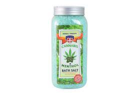 Konopná sůl do koupele s mentolem 900 g