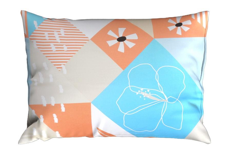 Bavlněný povlak na polštář RENFORCÉ 70x90 cm AURORA tyrkysový