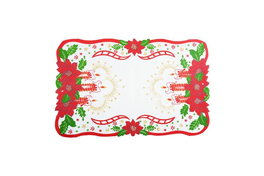 Vánoční ubrus SVÍCE 28x43 cm